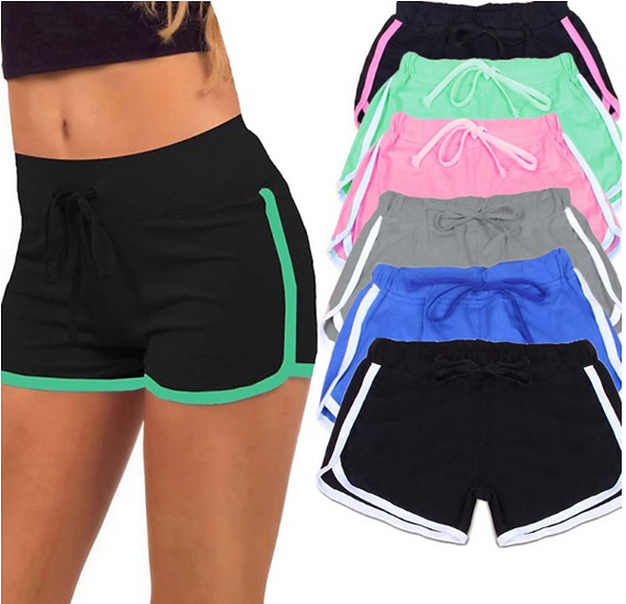 2018 Women Sports Yoga Shorts Workout Fitness Female Running Sport Shorts Cotton