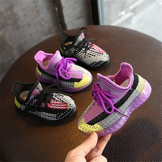 2020 New Autumn Kids Shoes Unisex Toddler Girls Boys Sneakers Mesh Breathable