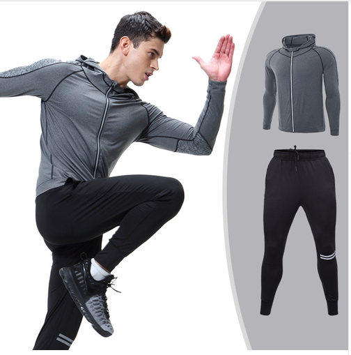 Men's Running Set Jacket Sportswear Sports Set jogging Suits Clothes Tracksuit Z
