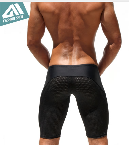 Athletic Men's Sport Tight Shorts Leisure Summer Fitted Gym Men Workout Shorts S