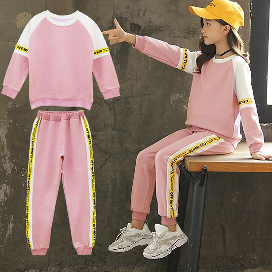 Fashion Girls Clothes Set Teen Girls Tracksuit Spring 2020 Autumn  8 10 12 Years