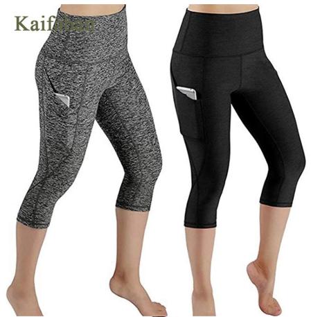 XS-4XL Women Plus Size Side Pocket Fitness Leggings Yoga Pants Tights High waist