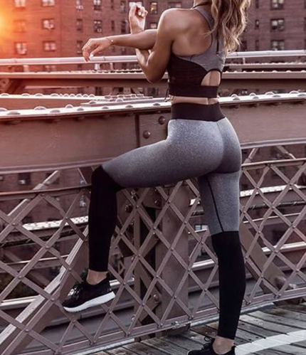 2018 Women Yoga Sets Vest Fitness Suit GYM Wear Workout Clothing Running Slim Le