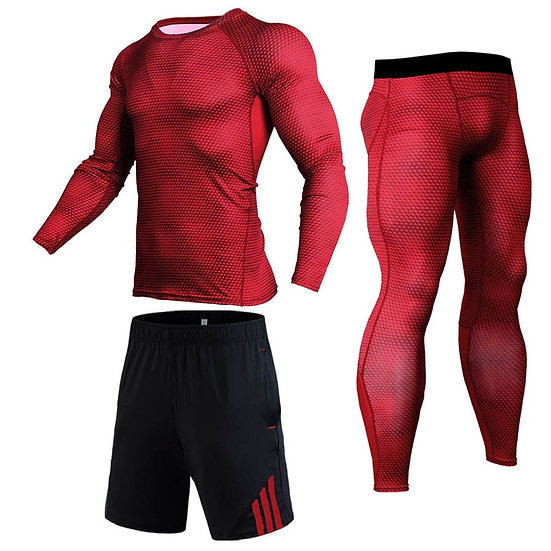 New 3D Compression Men's Sport Suits Quick Dry Running Set Clothes Sports Jogger