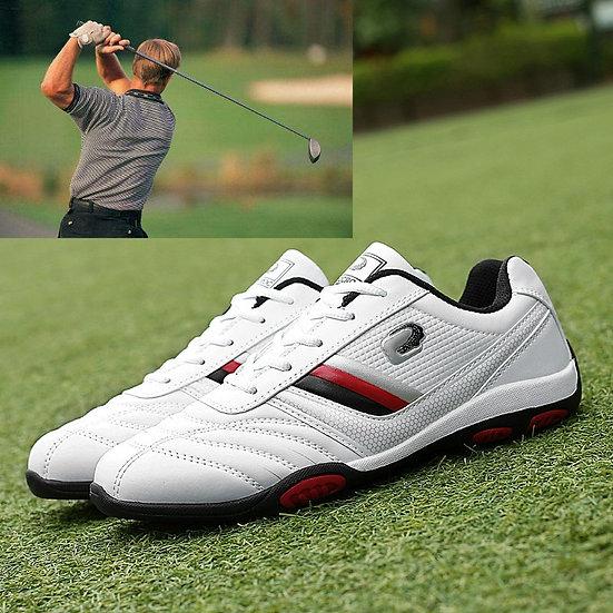 2020 Waterproof Men's Golf Shoes Flat Bottom Men's Comfortable Golf Casual