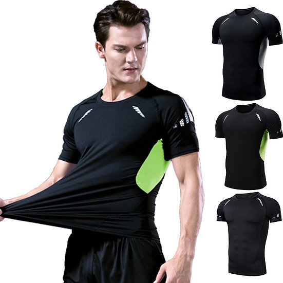 Fitness Running T Shirts Clothing Basketball Training Sports Tights Clothes