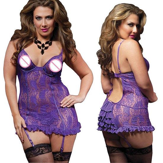 Sexy Lingerie Plus Size S M L XL XXXL 5XL 6XL Black Purple Lace Lingerie Hot