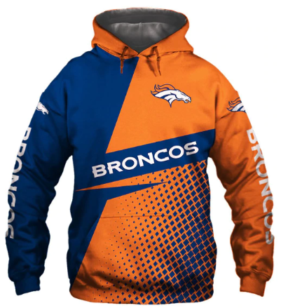 Usa Size Autumn Male Casual Hoodies Denver 3d Print Football Loose Sweatshirts B