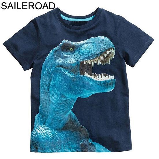 SAILEROAD 2-8Years 4Style Dinosaurs Print Baby Boys T Shirt Summer New Children
