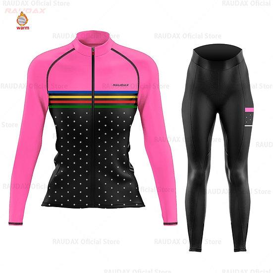 Cycling Jersey 2020 Women Pro Team Zootekoi Winter Fleece Cycling Clothing MTB