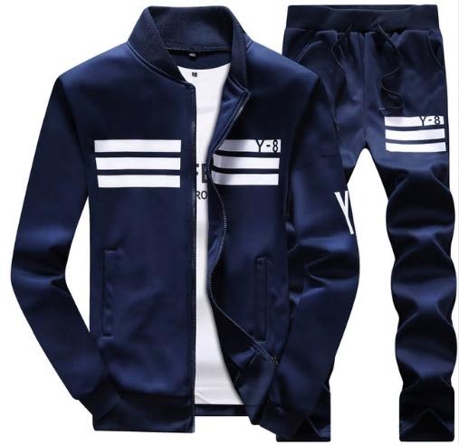 BOLUBAO 2020 New Autumn Men Set Quality Fleece Sweatshirt + Pants Male Tracksuit