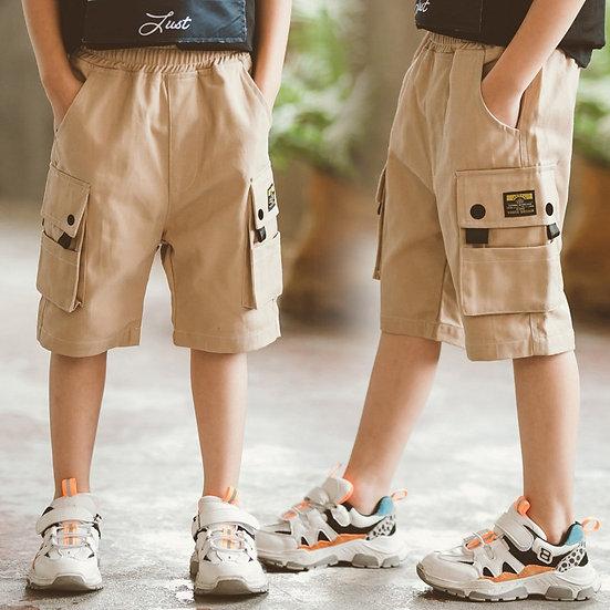 Kids Boys Summer Black Red Khaki Shorts Cheap Price Cotton Baby Solid Shorts