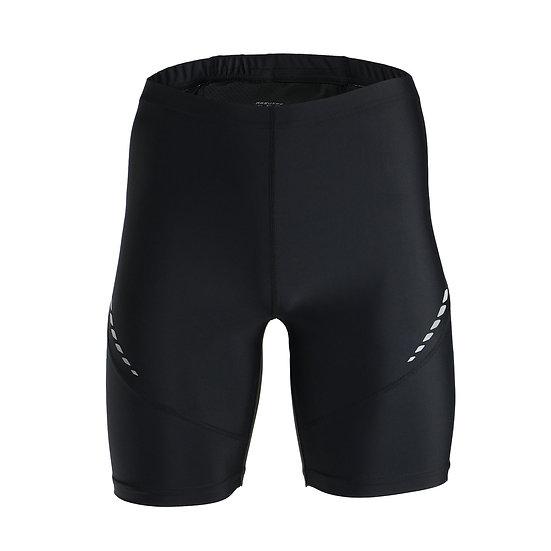 Pro Men's Running Tights Short Reflective Quick Dry Elastic Sports Leggings