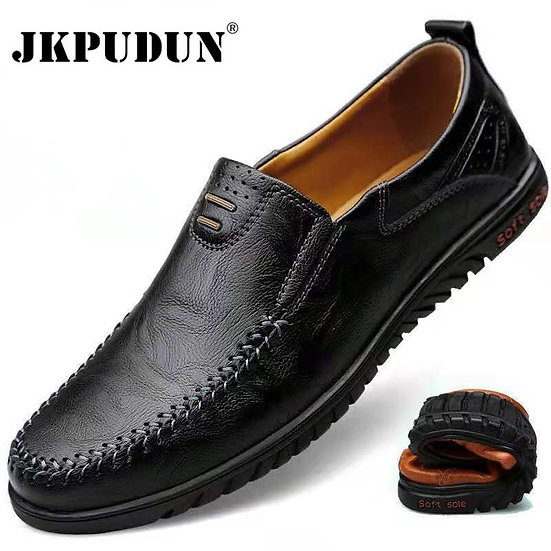 Genuine Leather Men Shoes Luxury Brand 2021 Casual Slip on Formal Loafers Men