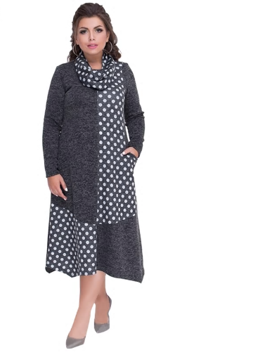 Plus Sizes Autumn Women Dresses Winter Large Size Loose Dress Female Long B