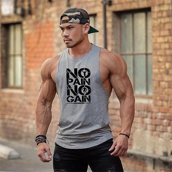 Brand Clothing No Pain No Gain Gym Stringer Tank Top Men Bodybuilding Tanktop