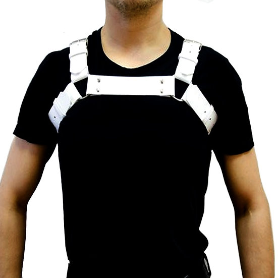 New Mens PU Leather Black Cool Shoulder Body Chest Harness Adjustable Costume