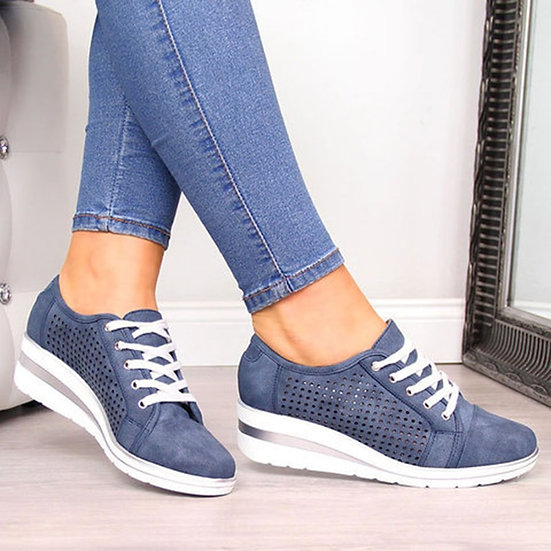 Women Flats Shoes Female Hollow Breathable Mesh Casual Ladies Shoes for Slip