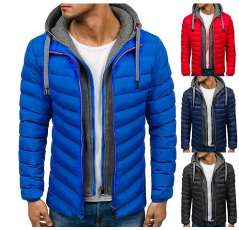 ZOGAA Men Autumn Winter Jacket Coat Casual Thick Clothes Mens Hooded Streetwear