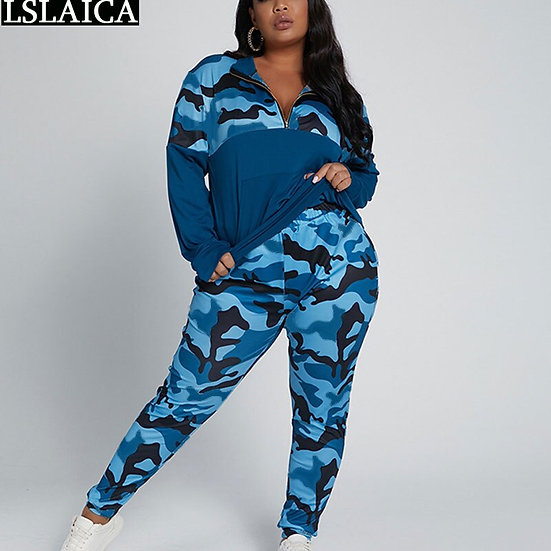 Fall Clothes for Women 2 Piece Set Tracksuit Plus Size 5xl Lounge Wear Outfits
