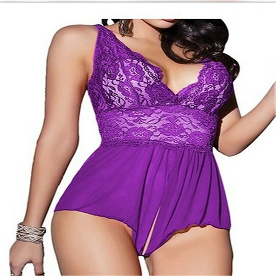Europe Sexy Costumes Women Transparent Lace Appeal Pajamas Large Big Size Exotic