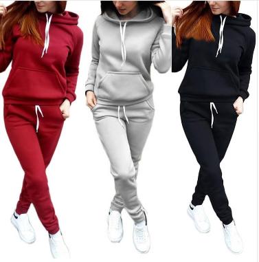 2018 Women's Hooded Sports Suits Sexy Sportswear 2 Piece Set Sportswear Jogging