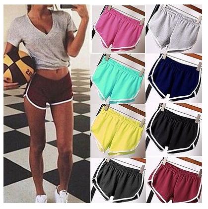 2017 Womens Summer Sports Shorts Gym Workout Fitness Yoga Beachwear Shorts Hot C