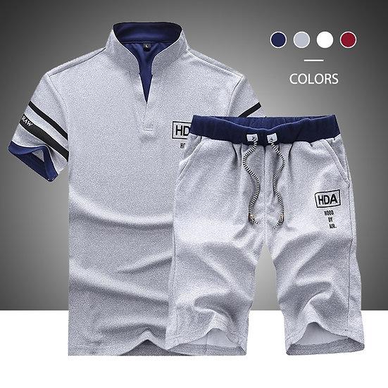 2020 Summer New Men Shorts Sets Short Sleeve T Shirt +Shorts Print Male Tracksui