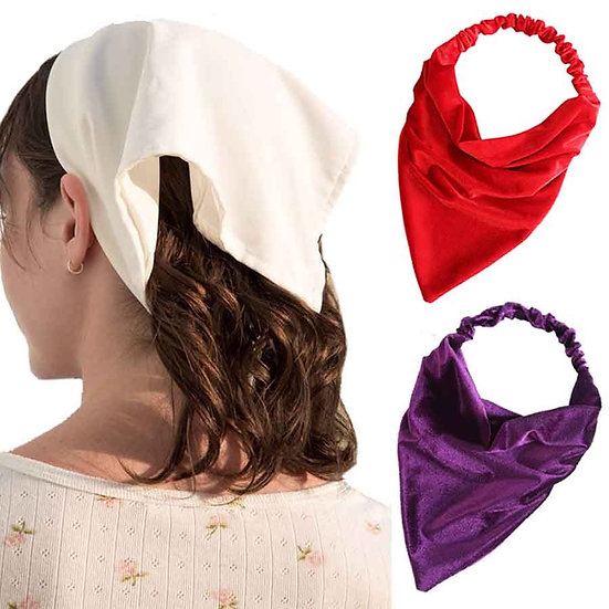 Haimeikang Winter Velvet Turban Bandage Bandanas Solid Color New Headband