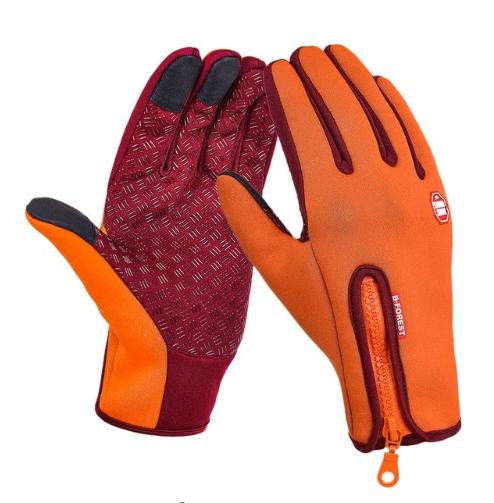 Adjustable size winter outdoor sports gloves for men and women outdoor fleece gl