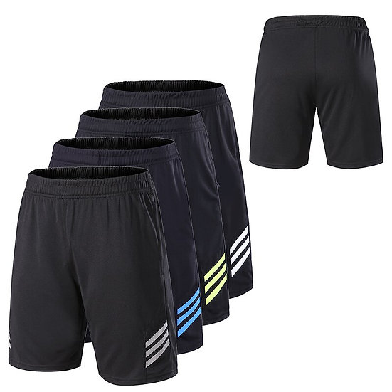 Men Gym Workout Shorts With Pockets Quick Dry Breathable Training Loose