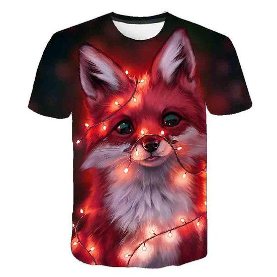 Fashion 2020 New Cool T-Shirt Kids Children's Wear 3d Tshirt Print Two Cat Short