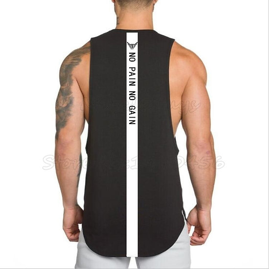 Brand NO PAIN NO GAIN Clothing Bodybuilding Stringer Gym Tank Top Men Fitness
