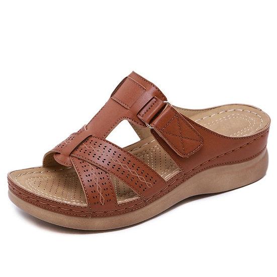 Women Sandals Soft Bottom Wedges Shoes for Women Summer Sandals Med Heels Plat