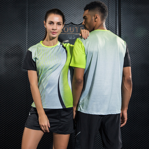 Sport Table Tennis Shirt Printed Breathable Quick Dry Short Sleeve Badminton