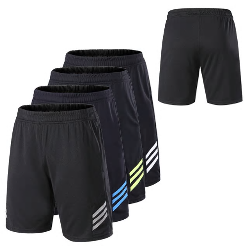 Men Gym Workout Shorts With Pockets Quick Dry Breathable Training Loose Basketba