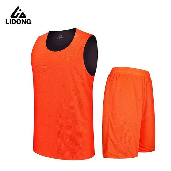 2018 Kids Boys Reversible Basketball Jersey Set Uniforms Kits Sports Clothes