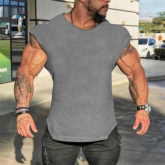Brand Gyms Tank Top Mens Sleeveless Shirts Summer Cotton Slim Fit Men Clothing