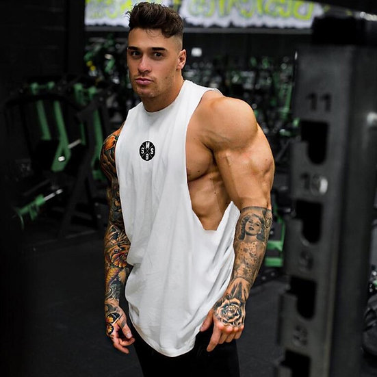 Muscleguys Mens Workout Tank Tops Fitness Bodybuilding Clothing Low Cut Armholes