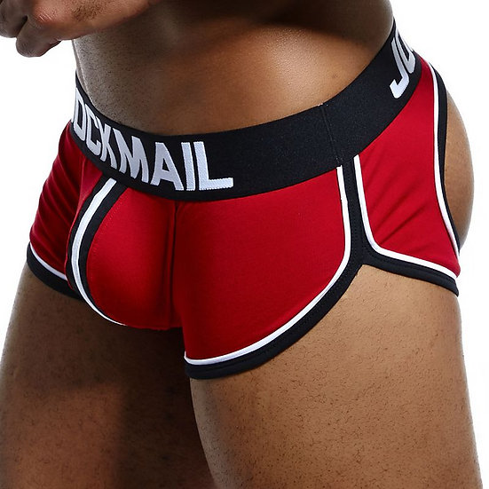 Sexy Men Underwear Boxer Shorts Backless Buttocks Cotton Open Back Gay Men Under