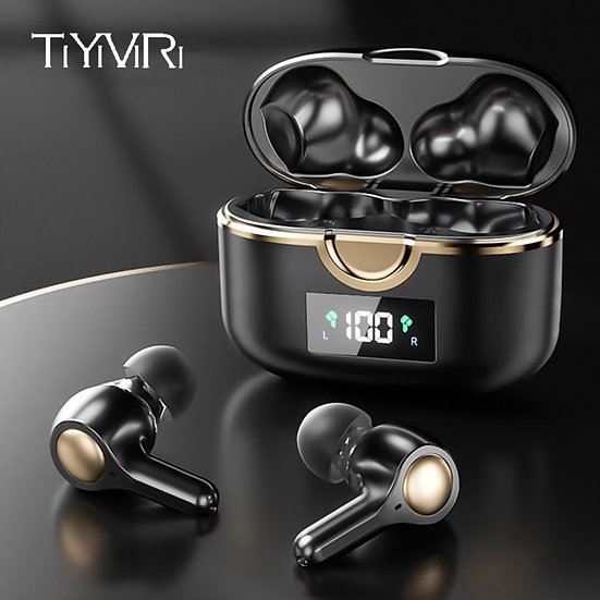 4 Microphones TWS Earbud 4500mAh Charging Case Bluetooth 5.1 Wireless Earphone