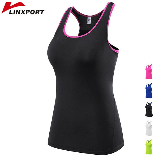Women Professional Gym Shirts Sleeveless Yoga Tops Shirts Tights Sports Tees