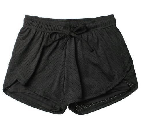 lulu Unisex Summer Yoga Shorts Women Mesh Breathable Ladie Girl Short Pants for
