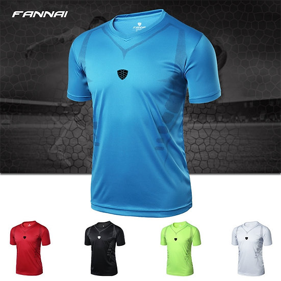 Top Quality New Arrive Men Soccer Jersey Football Training Fitness Running Shirt