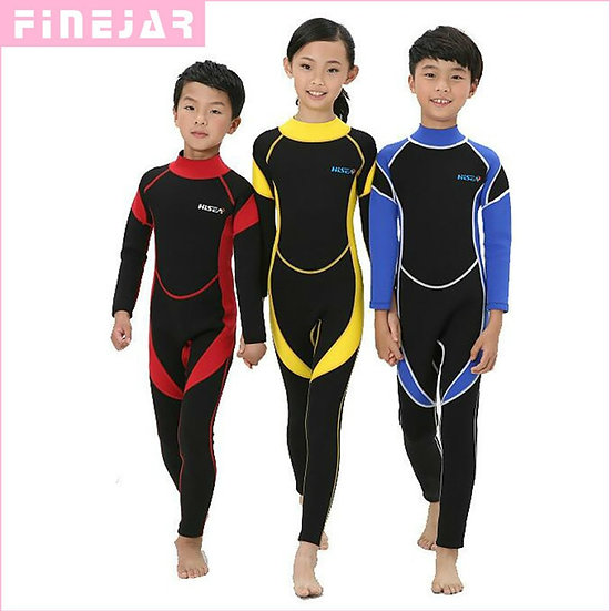 2.5MM Neoprene Wetsuits Kids Swimwears Diving Suits Long Sleeves Boys Girls