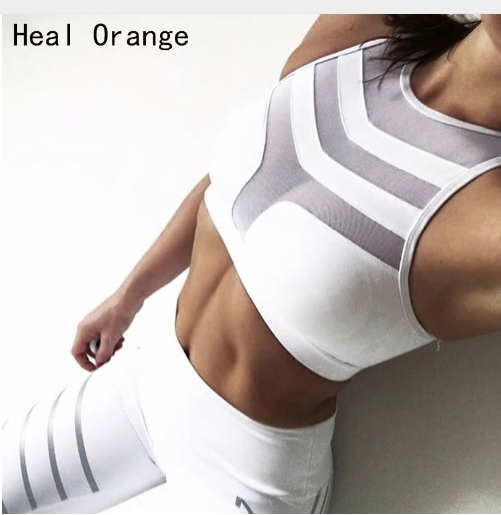 2018 Woman Sport Bra Top Women Crop Top Cropped Padded Bra Tank Top Vest Fitness