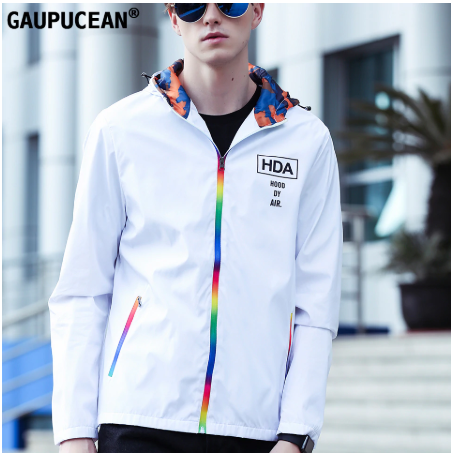 Gaupucean Casual Man Fashion Windproof Ultraviolet-proof Navy White Black Autumn