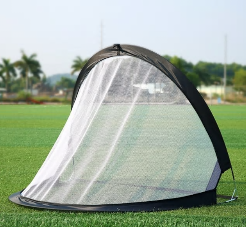 2Piece Soccer Football Goal Net Folding Black Training Goal Net Tent Kids Indoor