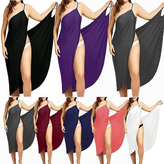 Women Beach Dress Sexy Sling  Wear Dress Sarong Bilini Cover Up Warp Pareo Dress