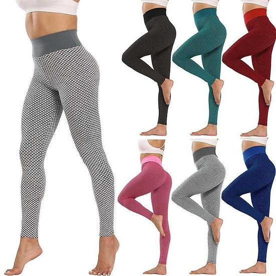 Sexy Net Peach Buttocks Fitness Pants High Waist Sports Tights Women Elastic